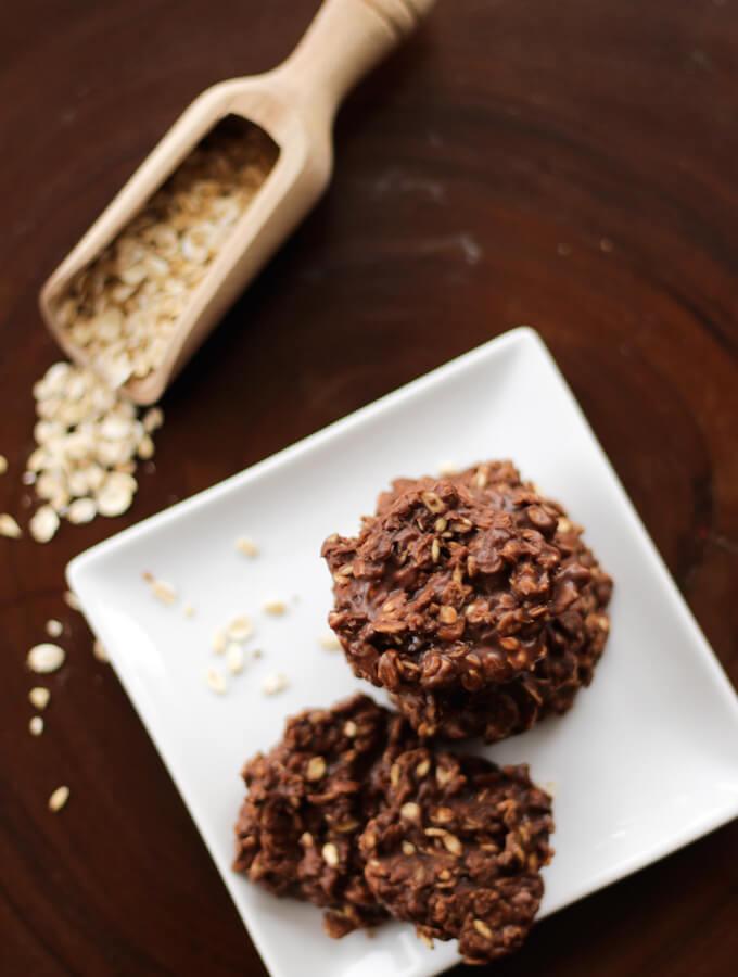 nutella oatmeal cookies recipe, no bake cookies, gluten free cookies