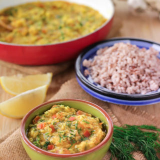 Suva moong dal   Dill & Lentil curry