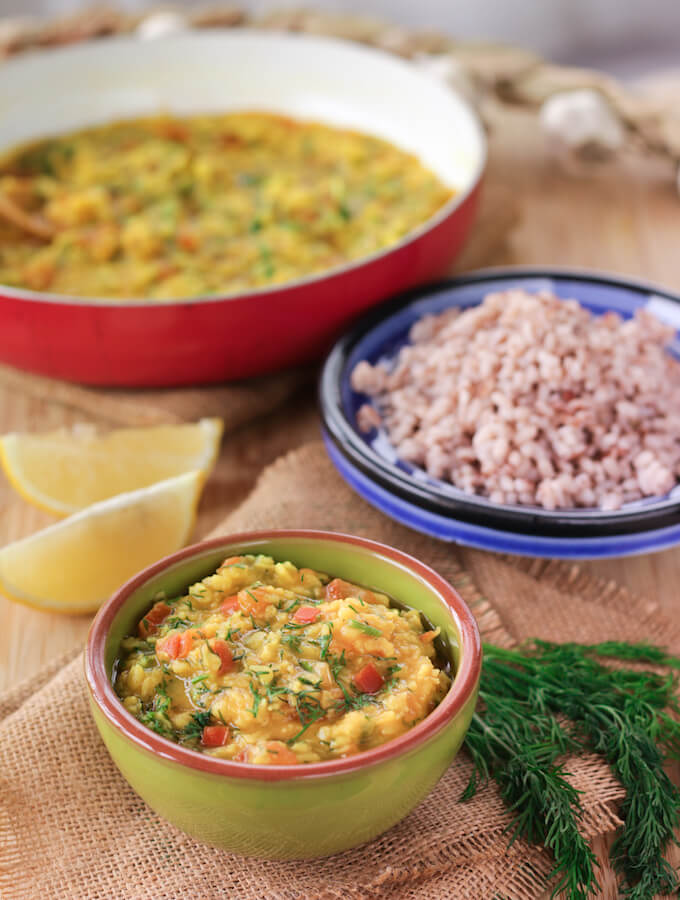 suva moog dal, dill and lentil curry
