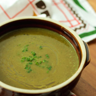 Zucchini (Courgette) Soup with burnt garlic