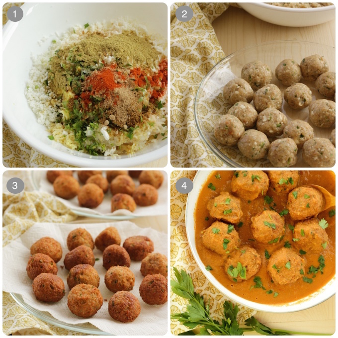 paneer malai kofta curry process step by steps photos