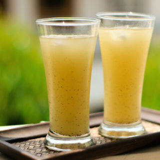 aam panna, raw green mango summer drink,