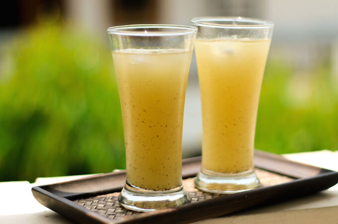 aam panna, raw green mango summer drink