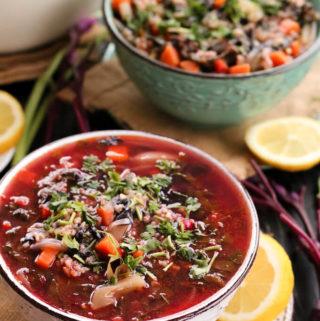 Ciorba de loboda | Romanian purple spinach soup