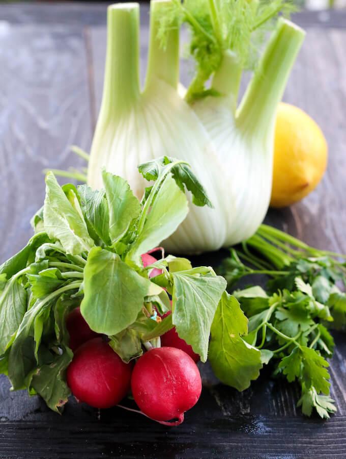 fennel recipes, radish recipes
