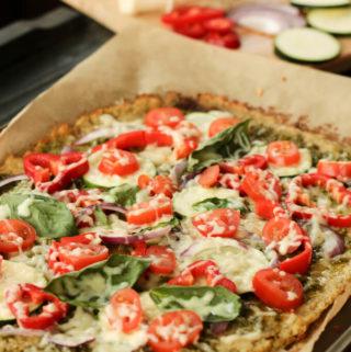 Healthy Cauliflower Pizza Crust