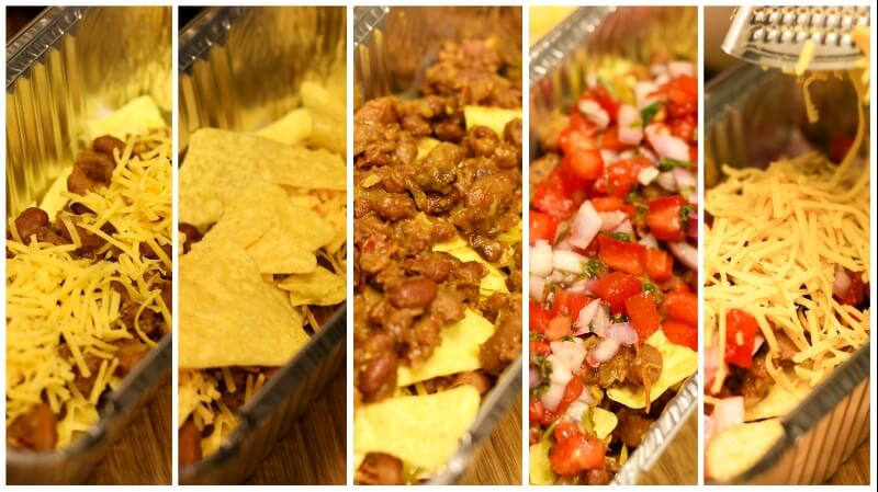 easy vegetarian loaded nacho recipe process steps