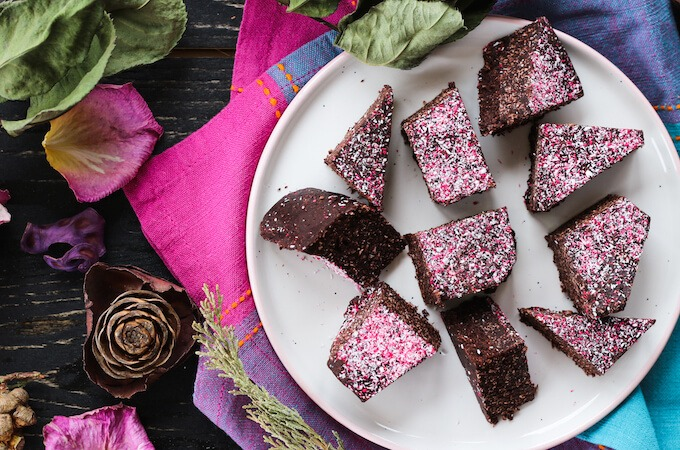homemade chocolate recipe with milk powder and coconut