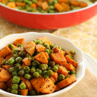 Sweet Potato and peas vegetable fry