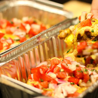 Vegetarian Loaded Nachos to share (or maybe not…)