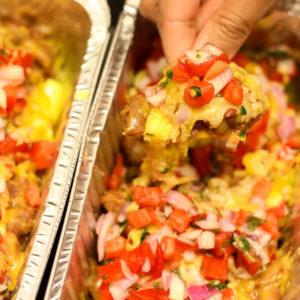 vegetarian loaded nachos for cinco de mayo food