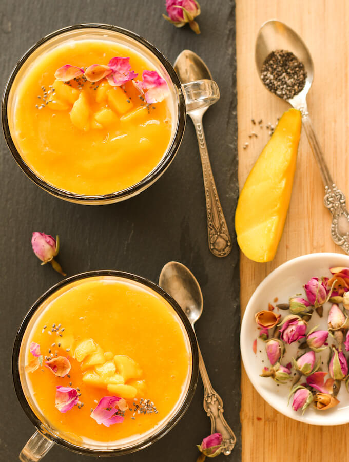 mango and chia seeds pudding recipe video