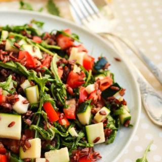 wild rice and arugula salad