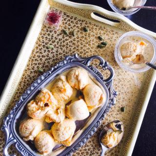 homemade mango ice cream recipe with milkmaid