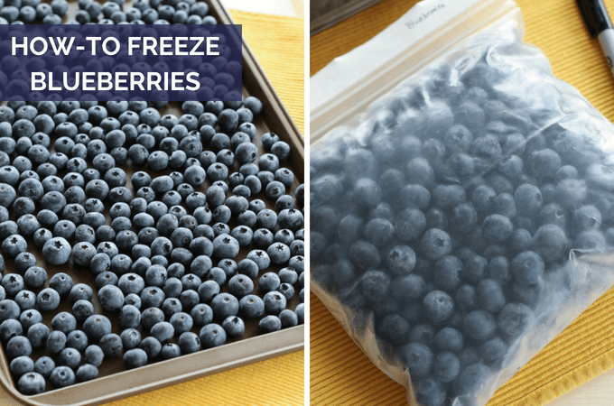 how to freeze blueberries without getting mushy