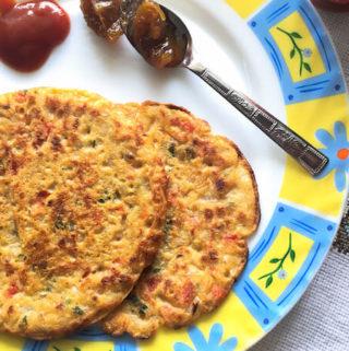 Savory Jowar (Sorghum flour) pancakes