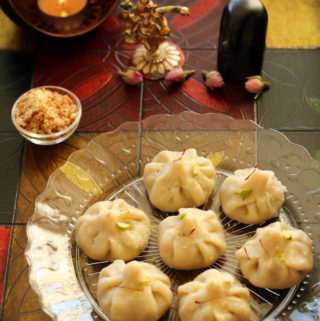 Steamed sweet dumplings, Indian steamed modak recipe, Ukadiche modak