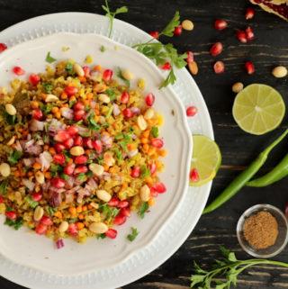 Indori Poha | Steamed red rice poha