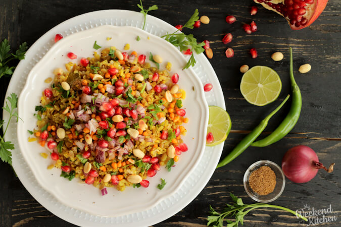 Indori poha recipe, Indian breakfast recipe gluten-free, easy recipes for lockdown