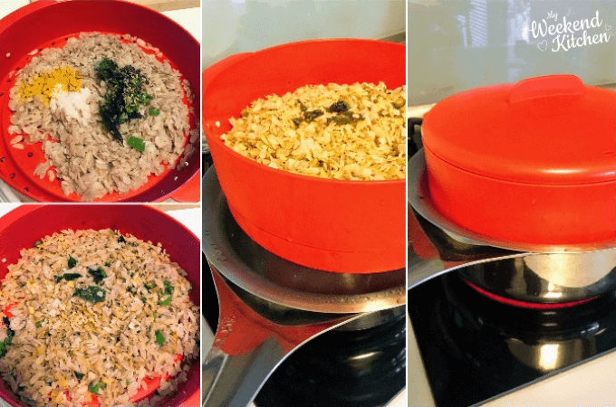 how to cook steamed poha step by step recipe