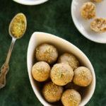 jaggery and peanut laddus, sugar-free Indian desserts, peanut energy balls