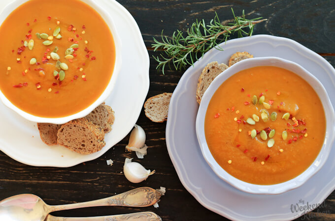 roasted butternut squash soup, vegan soup, fall soup recipes