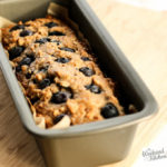 eggless and vegan blueberry banana bread with oats and whole wheat flour