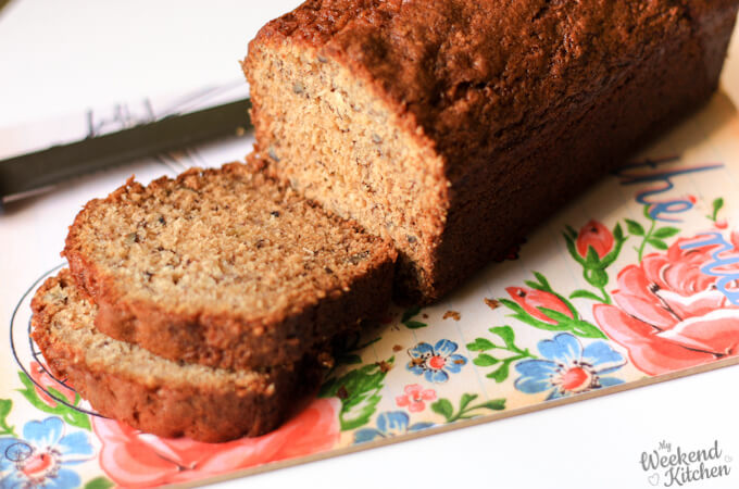 coconut banana bread with pecans