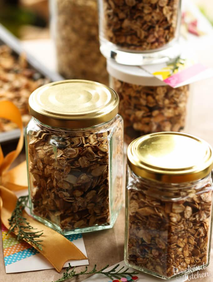 Homemade granola recipe, homemade food gifts