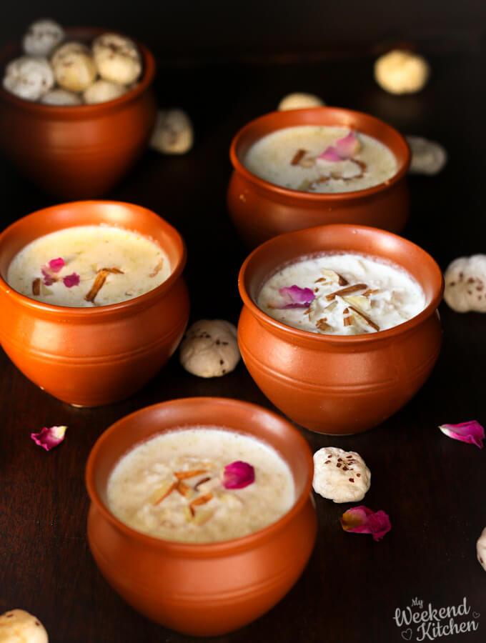 phool makhana kheer, Navratri fasting dishes