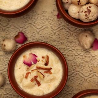 phool makhana kheer, makhane ki kheer banane ki vidhi