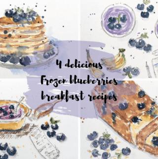 4 delicious frozen Blueberries breakfast recipes
