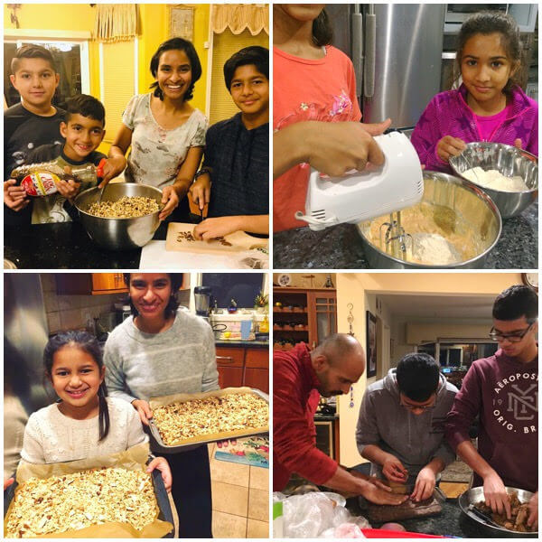 making homemade food gifts with children, cooking with kids