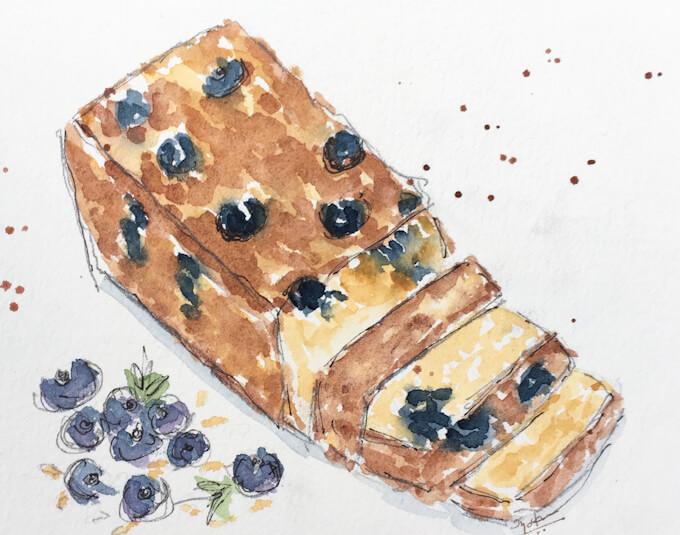blueberry banana oatmeal bread vegan