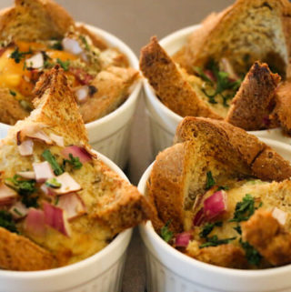 Oven Baked eggs with bread