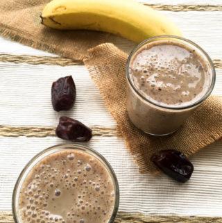 cereal drink, millet smoothie, finger millet and banana smoothie, ragi drink for children