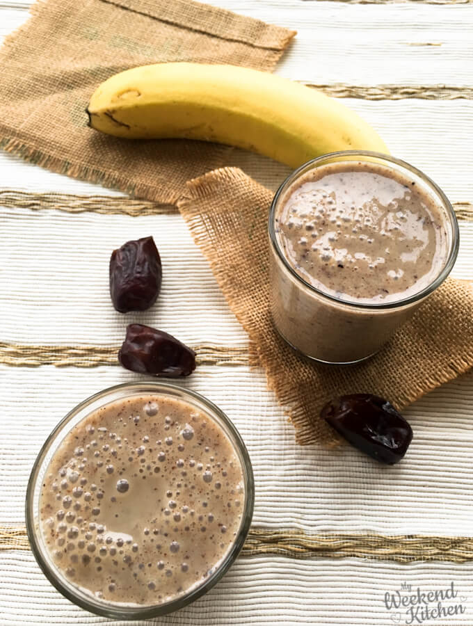 cereal drinks, millet smoothies, finger millet and banana breakfast smoothie