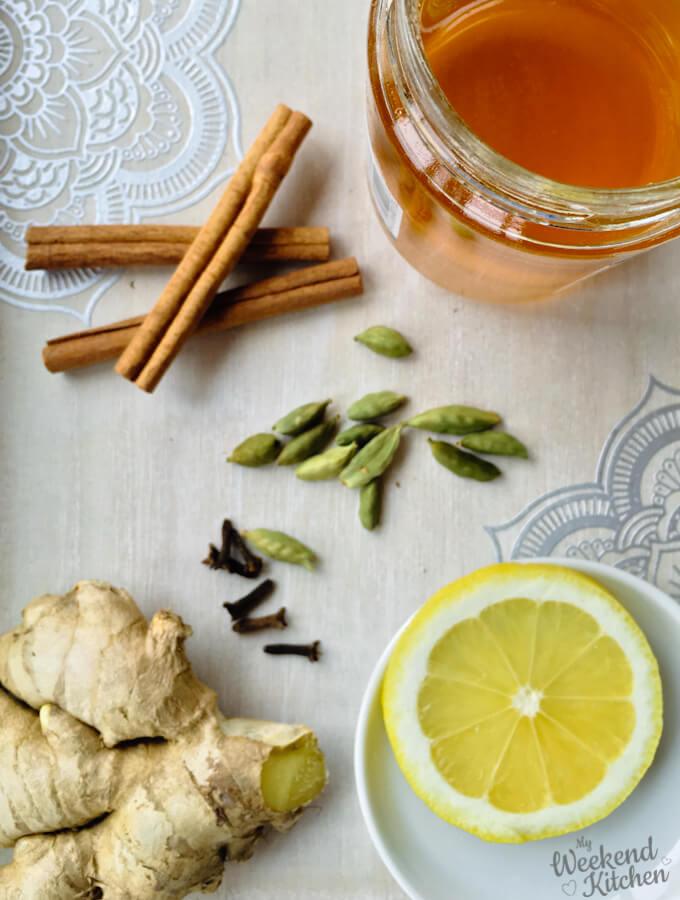 lemon and ginger tea ingredients, how to make lemon and ginger tea at home
