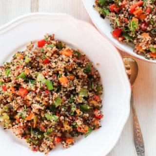 Vegetable Stir fry   Quinoa Pulao