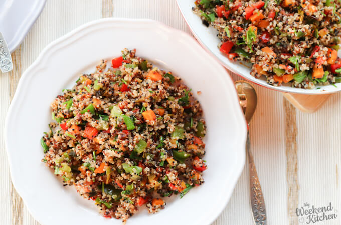 quinoa vegetable stir fry recipe, easy vegan stir fry with quinoa
