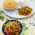 vegan cauliflower scramble recipe, gobhi ki bhurji
