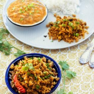 vegan cauliflower scramble recipe, gobhi ki bhurji