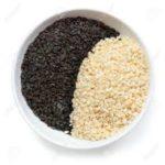 white and black sesame seeds til