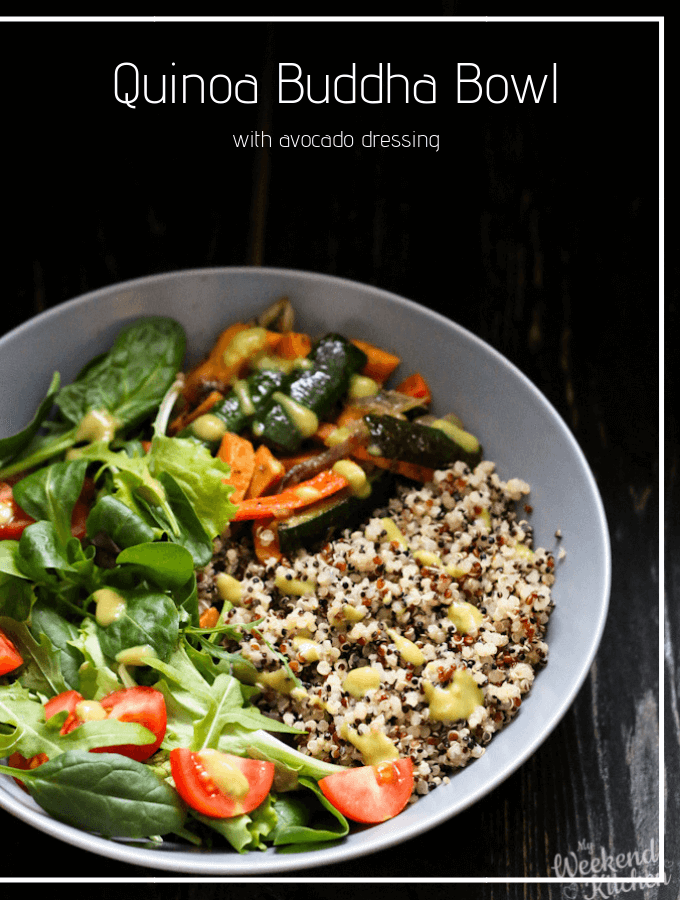 Vegan quinoa bowl, vegan buddha bowl recipe