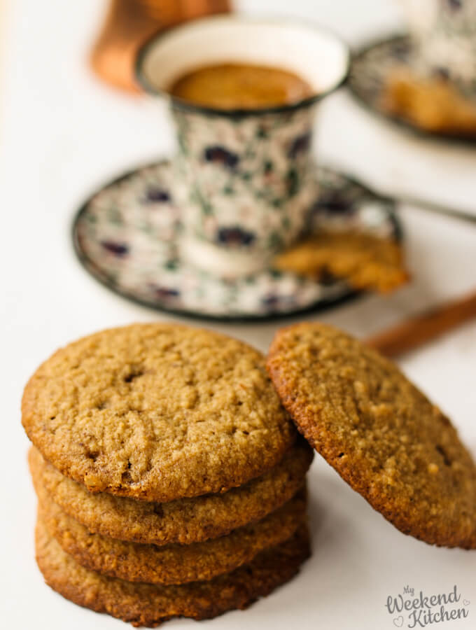 gluten free and eggless almond oatmeal cookies, eggless cookies