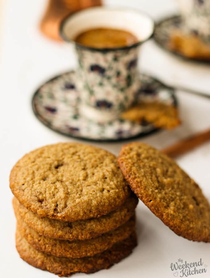 gluten free and eggless almond oatmeal cookies, eggless cookies