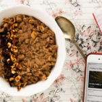 hazelnut chocolate oatmeal porridge