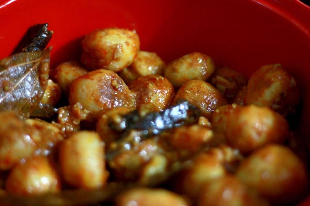 Kashmiri dum aloo, traditional Indian recipes
