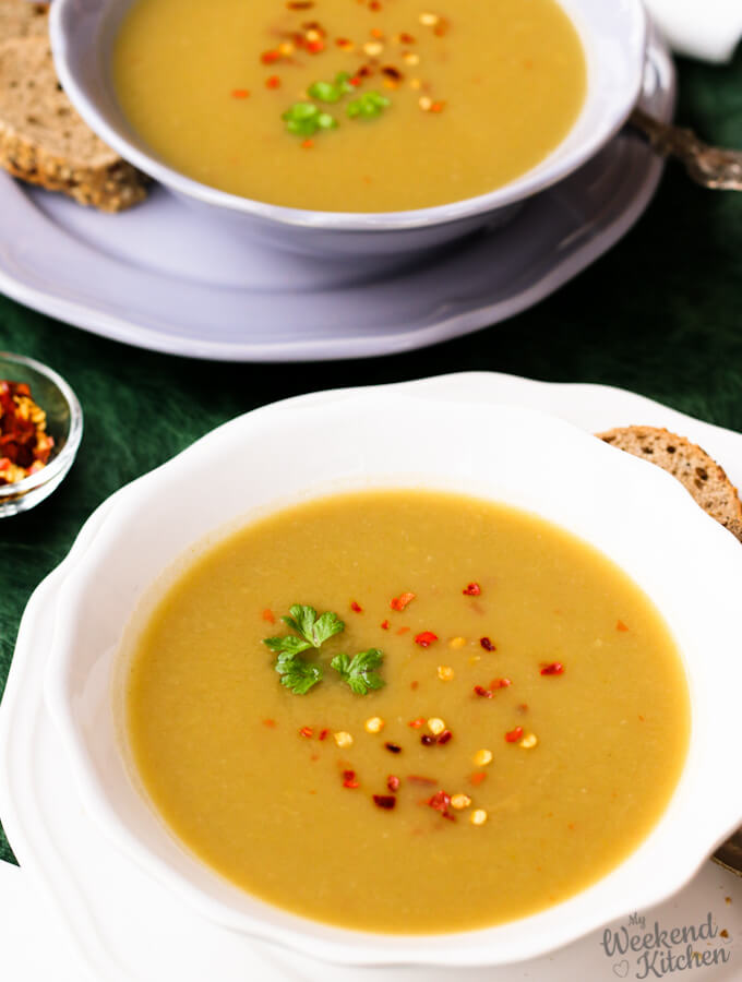 vegan leek and potato soup no cream recipe