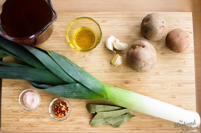 vegan potato and leek soup ingredients